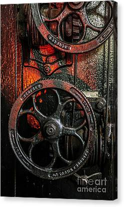 Solid Canvas Print - Industrial Wheels by Carlos Caetano