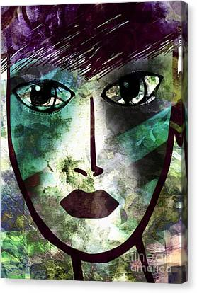 Industrialized - Masked Series Canvas Print by Angelica Smith Bill