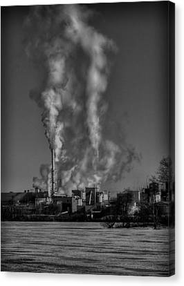 Industry In Black And White 2 Canvas Print