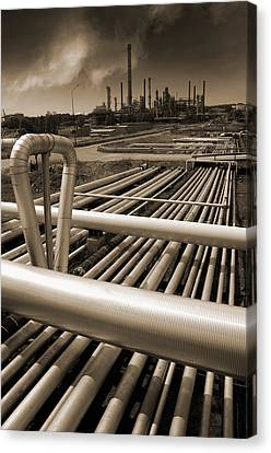 Industry Oil Gas And Fuel Canvas Print by Christian Lagereek