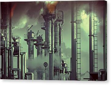 Industry Oil Refinery Concept Canvas Print by Christian Lagereek
