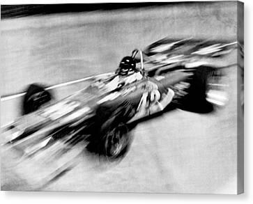 Indy 500 Race Car Blur Canvas Print by Underwood Archives