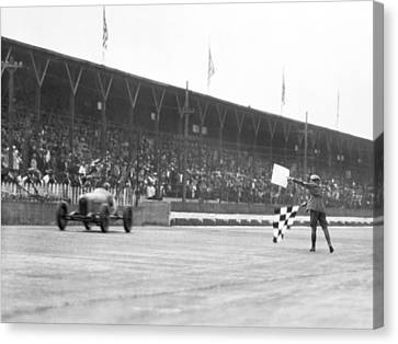 Indy 500 Victory Canvas Print by Underwood Archives