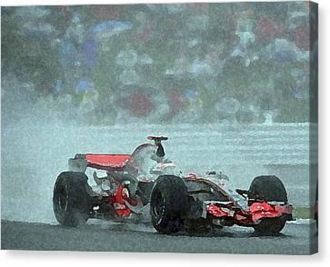 Indy Car 1 Canvas Print by Dennis Buckman