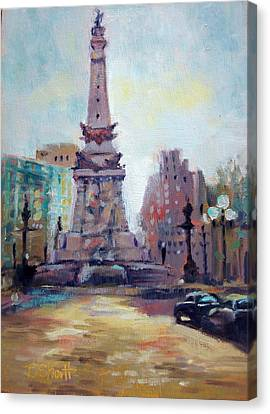 Canvas Print - Indy Circle Back-lit by Donna Shortt