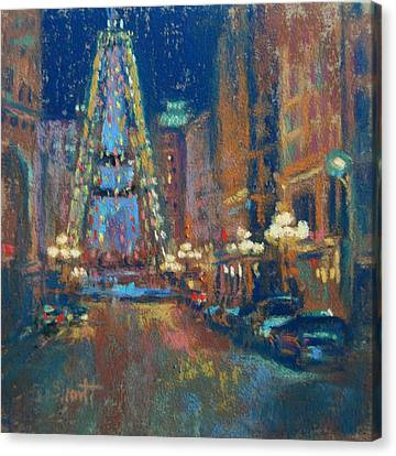 Canvas Print - Indy Circle Christmas by Donna Shortt
