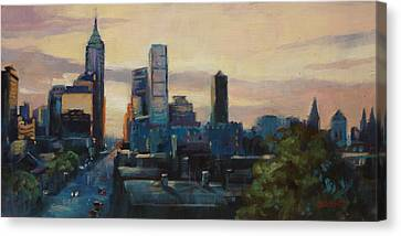 Indy City Scape Canvas Print by Donna Shortt