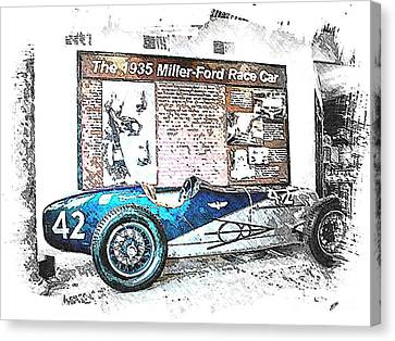 Indy Race Car 3 Canvas Print by Spencer McKain