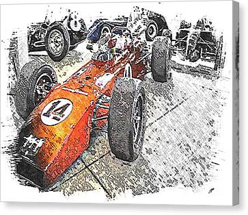 Indy Race Car 4 Canvas Print by Spencer McKain