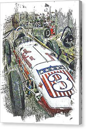 Indy Race Car 6 Canvas Print by Spencer McKain
