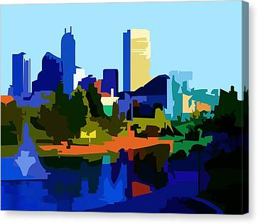 Indiana Landscapes Canvas Print - Indyscape by PD Morris