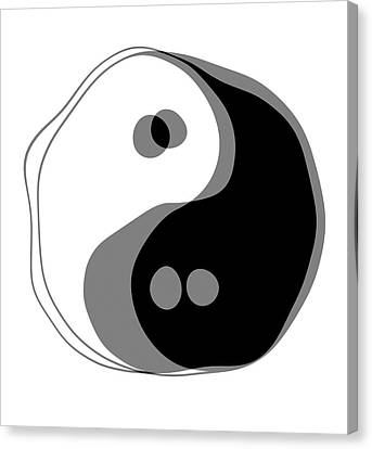 Opposing Forces Canvas Print - Inebriated Yin Yang by Daniel Hagerman