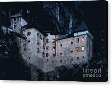 Infamous Jim-jam Predjama Castle Canvas Print