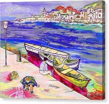 Infanzia Spensierata Canvas Print by Loredana Messina