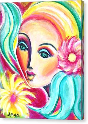 Canvas Print featuring the painting Infatuated by Anya Heller