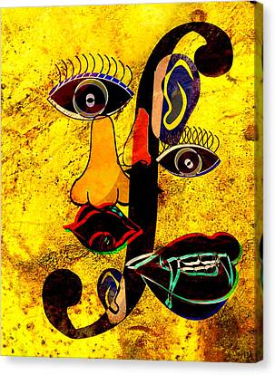 Infected Picasso Canvas Print by Ally  White