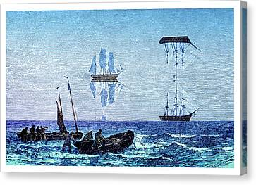 Inferior And Superior Mirages Canvas Print by David Parker