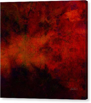 Inferno - Abstract - Art  Canvas Print by Ann Powell