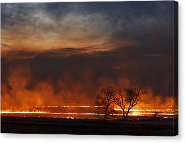 Canvas Print featuring the photograph Inferno II by Scott Bean