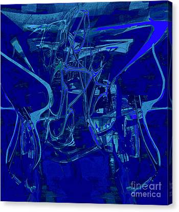 Infinitus In Blue Canvas Print