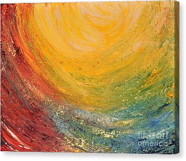 Canvas Print featuring the painting Infinity by Teresa Wegrzyn