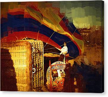 Canvas Print featuring the digital art Inflating by Kirt Tisdale