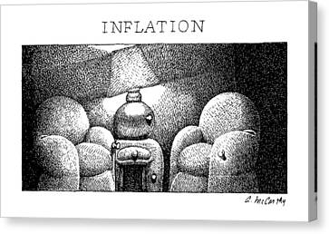 Inflation Canvas Print by Ann McCarthy