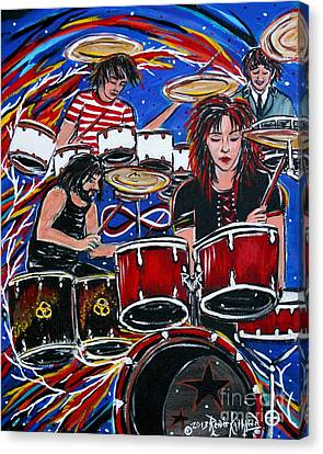 Influences Canvas Print by Kath MoonArts