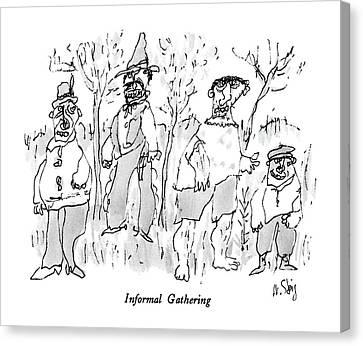 Informal Gathering Canvas Print by William Steig