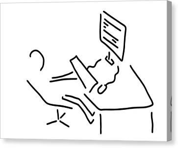 Information Scientist Nerd Computer Canvas Print by Lineamentum