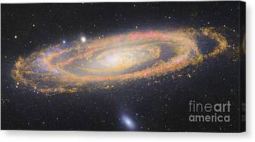 Infrared Image Of The Andromeda Galaxy Canvas Print by Robert Gendler