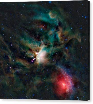 Infrared Light View Of Rho Ophiuchi Molecular Cloud  Canvas Print by Celestial Images
