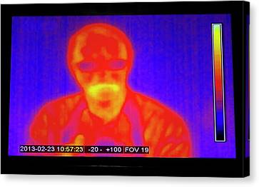 Infrared Man Canvas Print