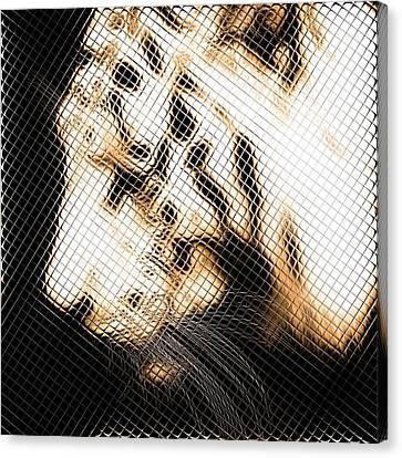 Infrared Orange Tiger Canvas Print by Tommytechno Sweden