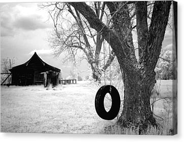 Infrared View Of Rural Alabama Canvas Print