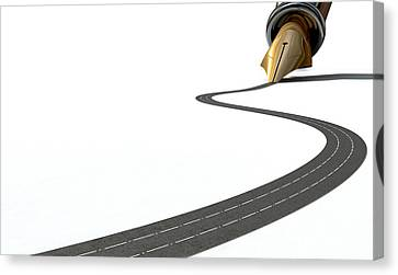 Infrastructure Pen And Road Canvas Print by Allan Swart