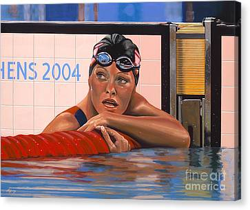 Swimmers Canvas Print - Inge De Bruijn by Paul Meijering
