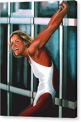 Swimmers Canvas Print - Inge De Bruin 2 by Paul Meijering