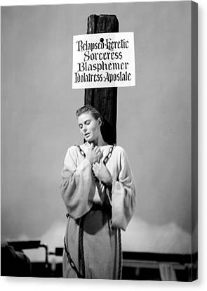 Ingrid Bergman In Joan Of Arc  Canvas Print