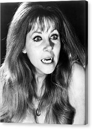 Ingrid Pitt In The Vampire Lovers  Canvas Print by Silver Screen
