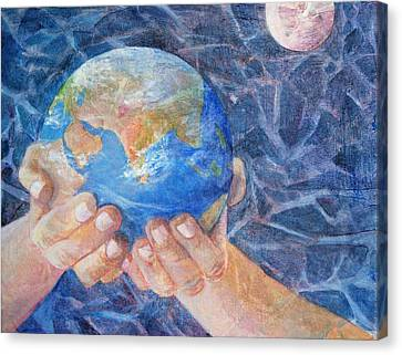 World System Canvas Print - Inherit The Earth by Arlissa Vaughn
