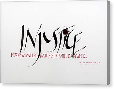 Injustice Canvas Print by Nina Marie Altman
