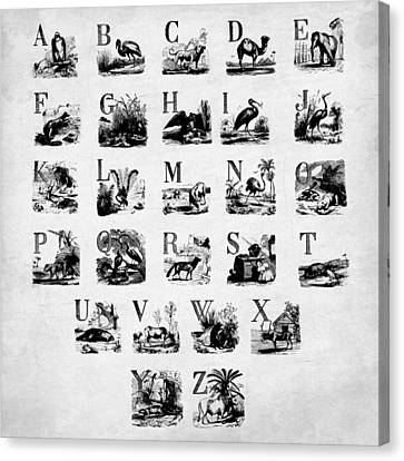 Ink Animal Alphabet  Canvas Print by Gina Dsgn