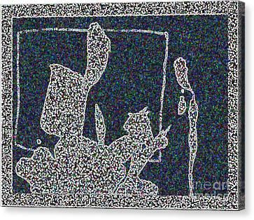 Ink Blot 2 Canvas Print by Helen Babis