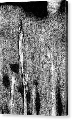 Ink Iris Canvas Print by Yevgeni Kacnelson