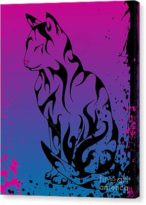 Ink Kitty  Canvas Print by Mindy Bench