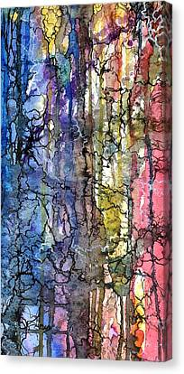 Canvas Print featuring the painting Ink Lines by Rebecca Davis