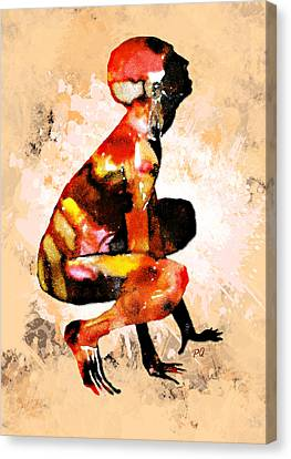 Ink Man Canvas Print by Paul Quarry