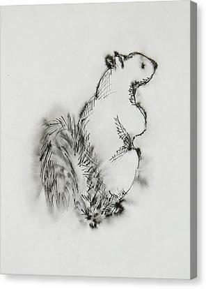Ink Squirrel Canvas Print
