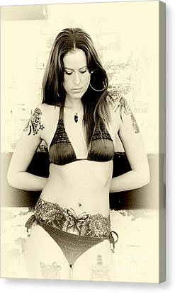Inked Thought Canvas Print by John Rizzuto